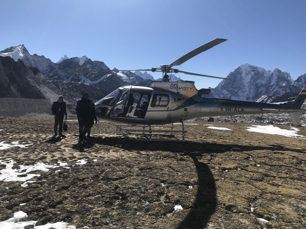 Pheriche to Kathmandu by Helicopter Flight