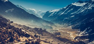 Manang Helicopter Flight