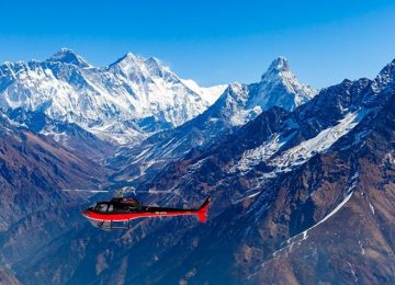 Everest base camp trek return back by Helicopter